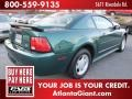 2001 Dark Highland Green Ford Mustang V6 Coupe  photo #3