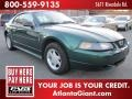 2001 Dark Highland Green Ford Mustang V6 Coupe  photo #4