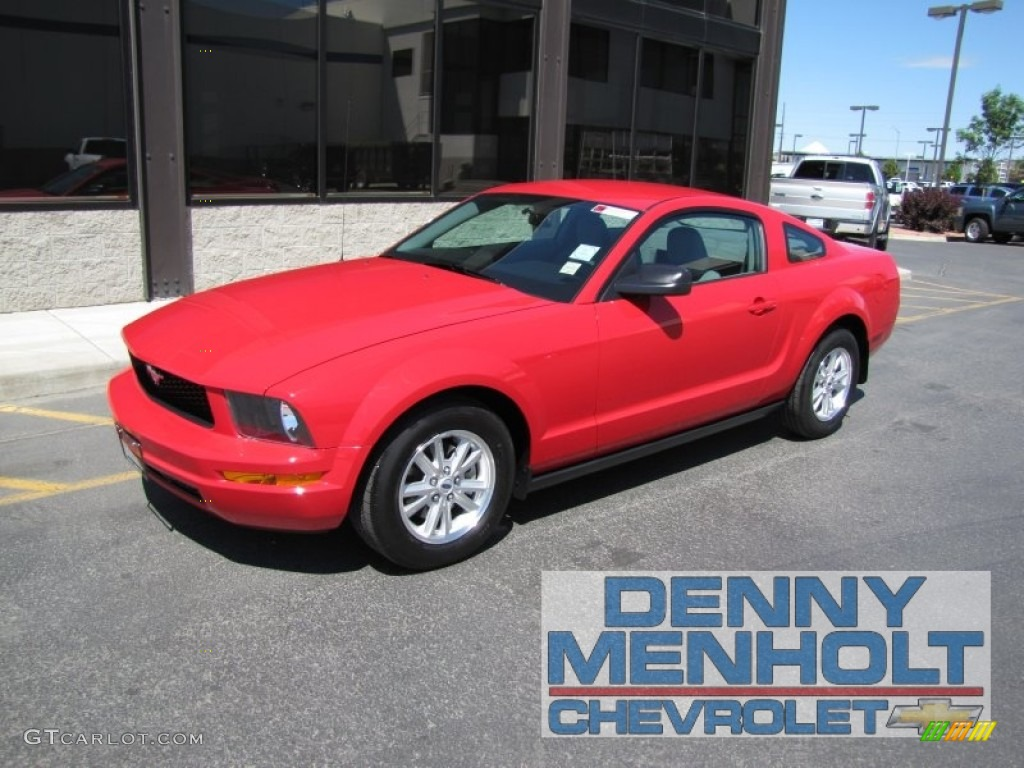 2007 torch red ford mustang v6 deluxe coupe 51289004 car color galleries. Black Bedroom Furniture Sets. Home Design Ideas