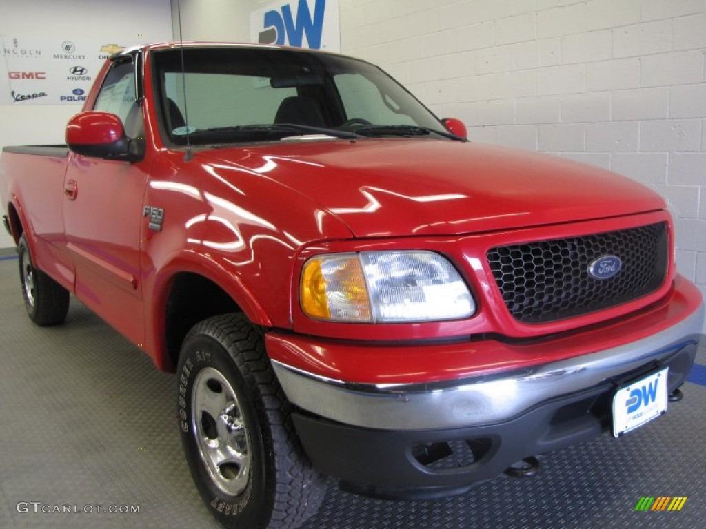 2002 Bright Red Ford F150 Xlt Regular Cab 4x4 51288949