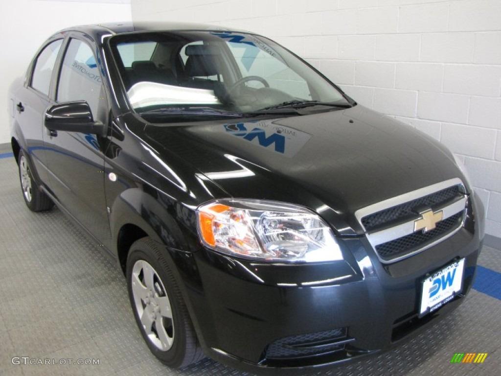 Black Chevrolet Aveo. Chevrolet Aveo LS Sedan