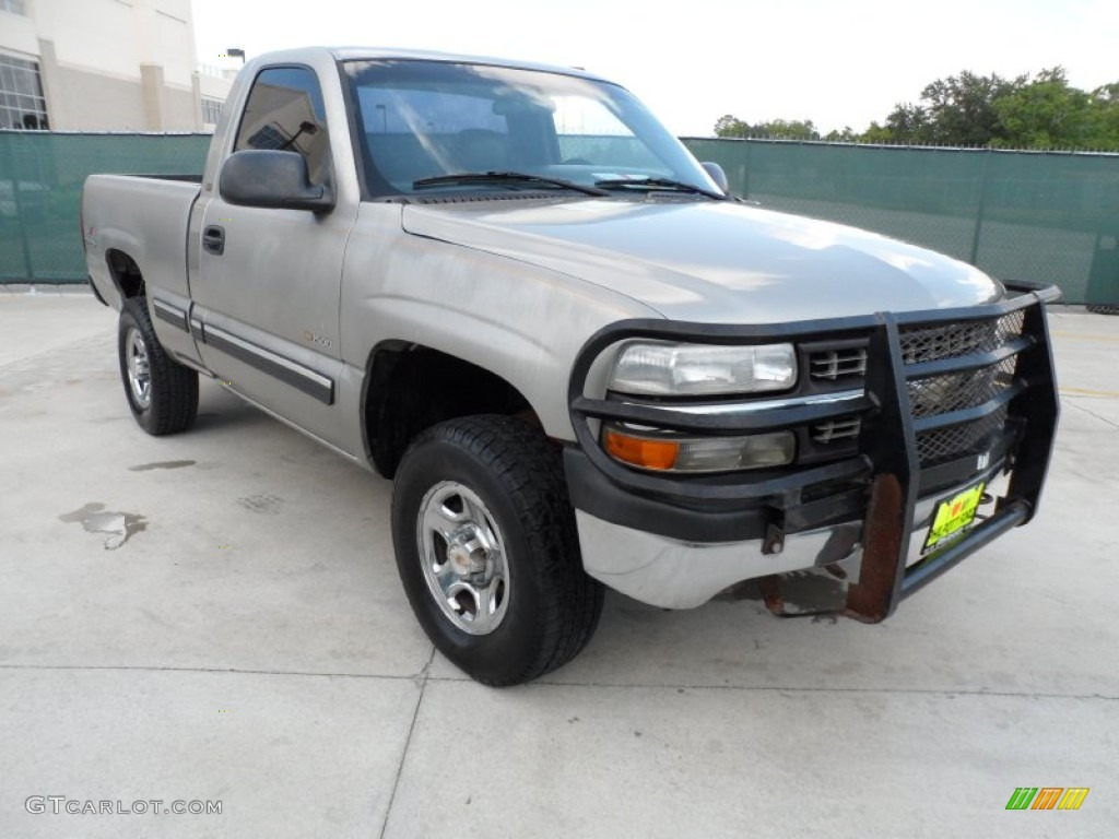 2000 Silverado 1500 Regular Cab 4x4 - Light Pewter Metallic / Graphite photo #1