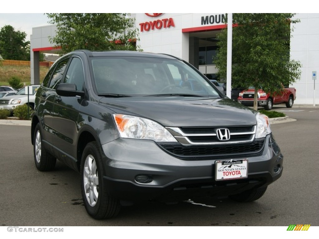 2011 CR-V SE 4WD - Polished Metal Metallic / Black photo #34