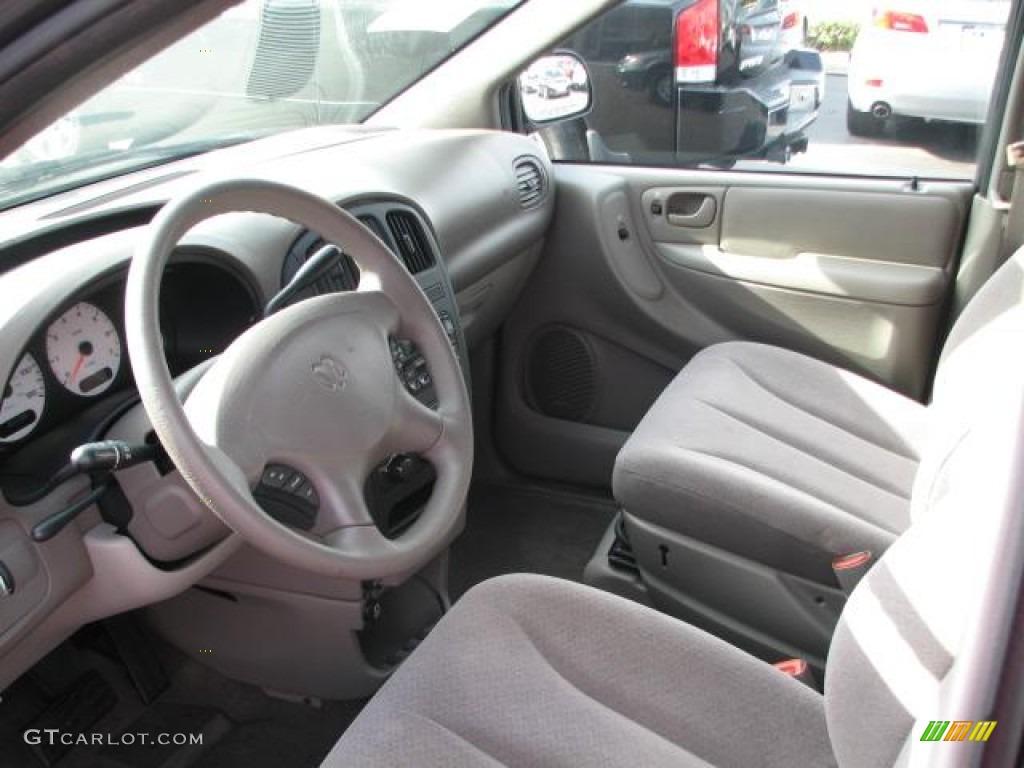 Taupe Interior 2002 Dodge Grand Caravan Sport Photo 51459993