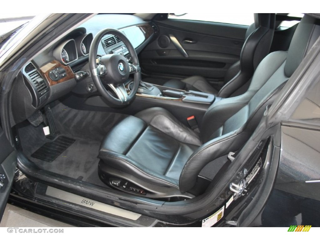 Black Interior 2007 Bmw Z4 3 0si Coupe Photo 51474960
