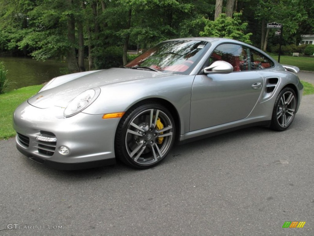 Gt Silver Metallic 2011 Porsche 911 Turbo S Coupe Exterior Photo 51486148 Gtcarlot Com