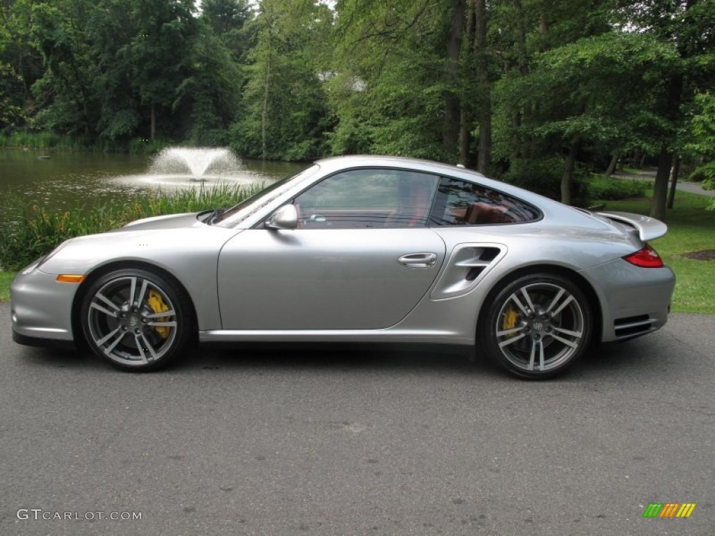 gt silver metallic 2011 porsche 911 turbo s coupe exterior. Black Bedroom Furniture Sets. Home Design Ideas
