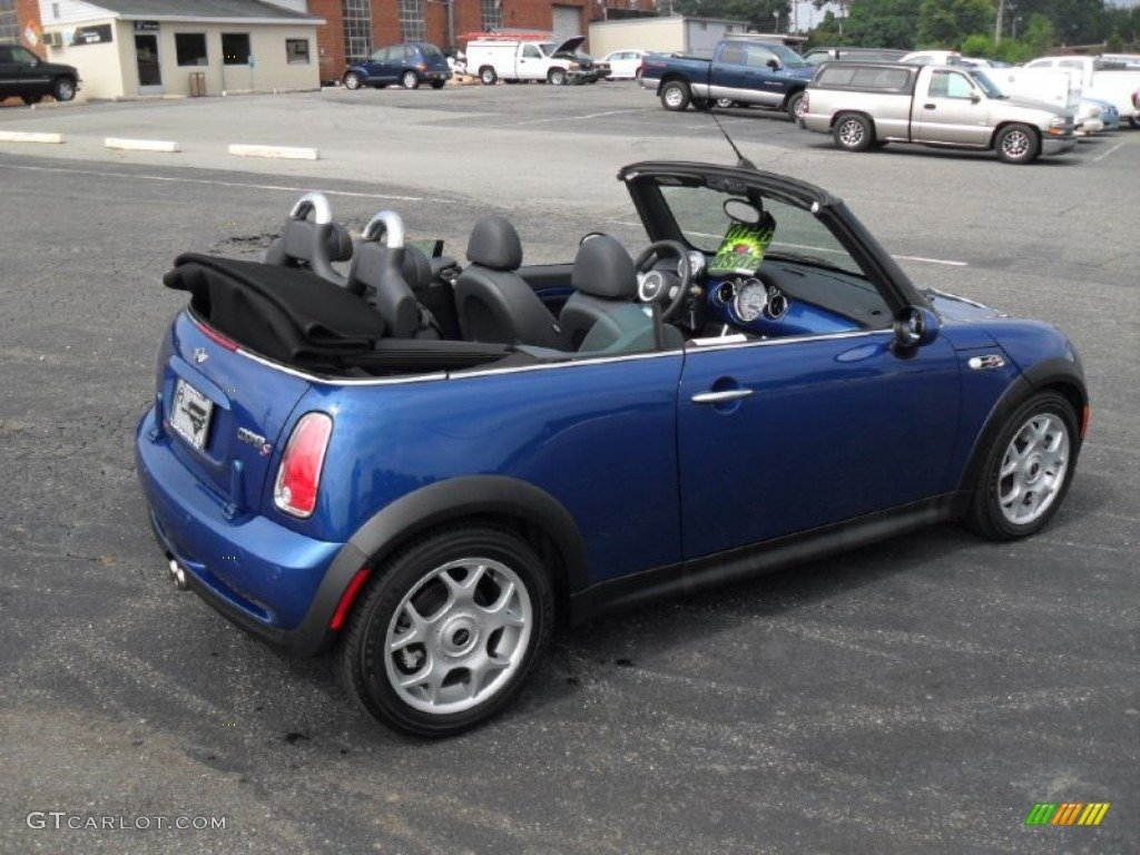 2007 Cooper S Convertible Lightning Blue Metallic Carbon Black Photo 2
