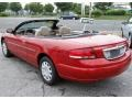 2003 Inferno Red Tinted Pearl Chrysler Sebring LX Convertible  photo #9