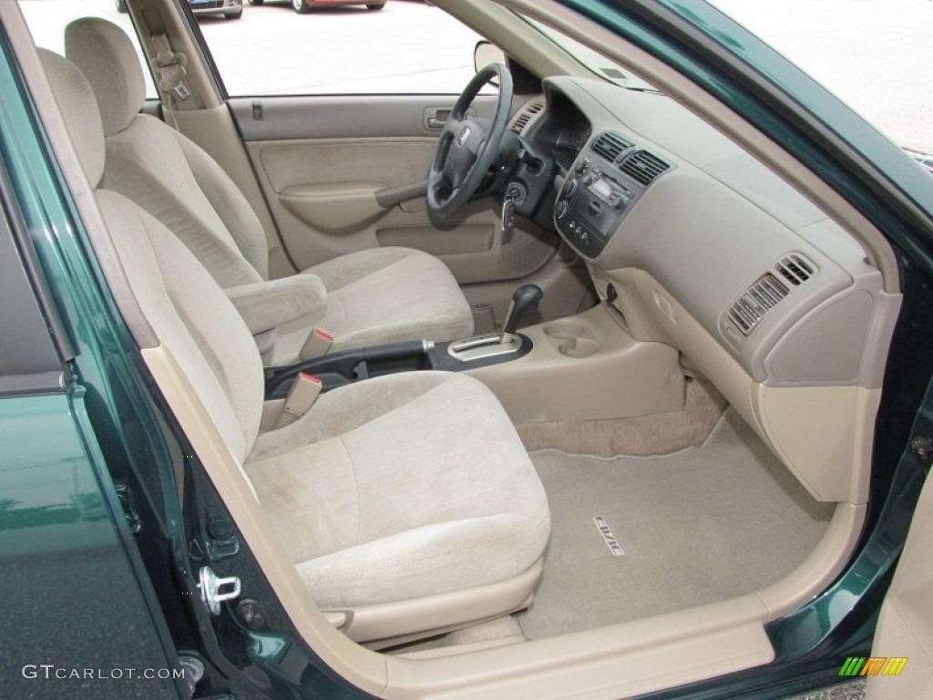 Beige Interior 2001 Honda Civic Ex Sedan Photo 51502231