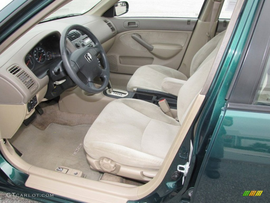 Beige Interior 2001 Honda Civic Ex Sedan Photo 51502699