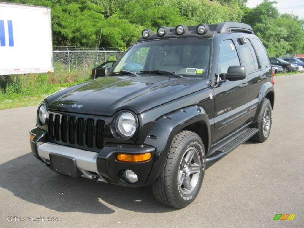 black clearcoat 2003 jeep liberty renegade 4x4 exterior photo 51506563. Black Bedroom Furniture Sets. Home Design Ideas