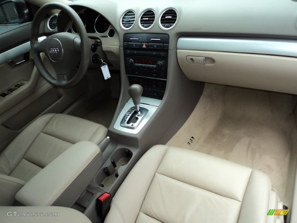 beige interior 2005 audi a4 1 8t cabriolet photo 51528100