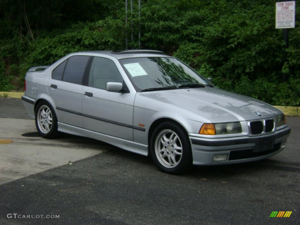 arctic silver metallic 1997 bmw 3 series 328i sedan. Black Bedroom Furniture Sets. Home Design Ideas