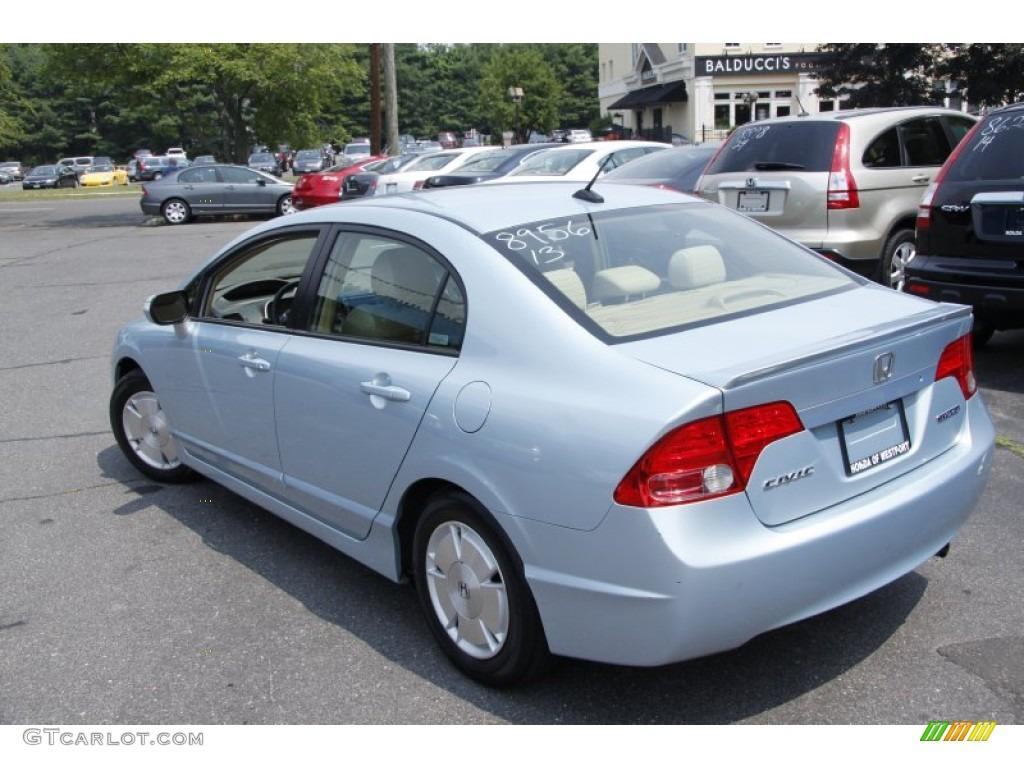 opal silver blue metallic 2007 honda civic hybrid sedan exterior photo