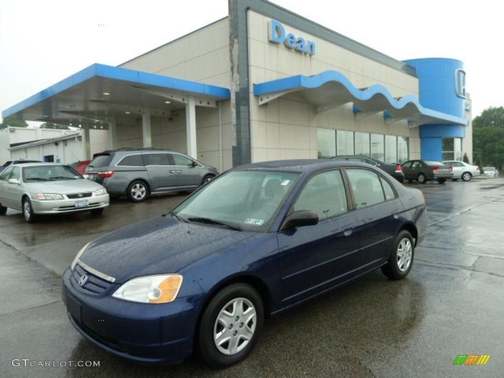 2003 royal blue honda civic lx sedan 51542263 car color galleries. Black Bedroom Furniture Sets. Home Design Ideas