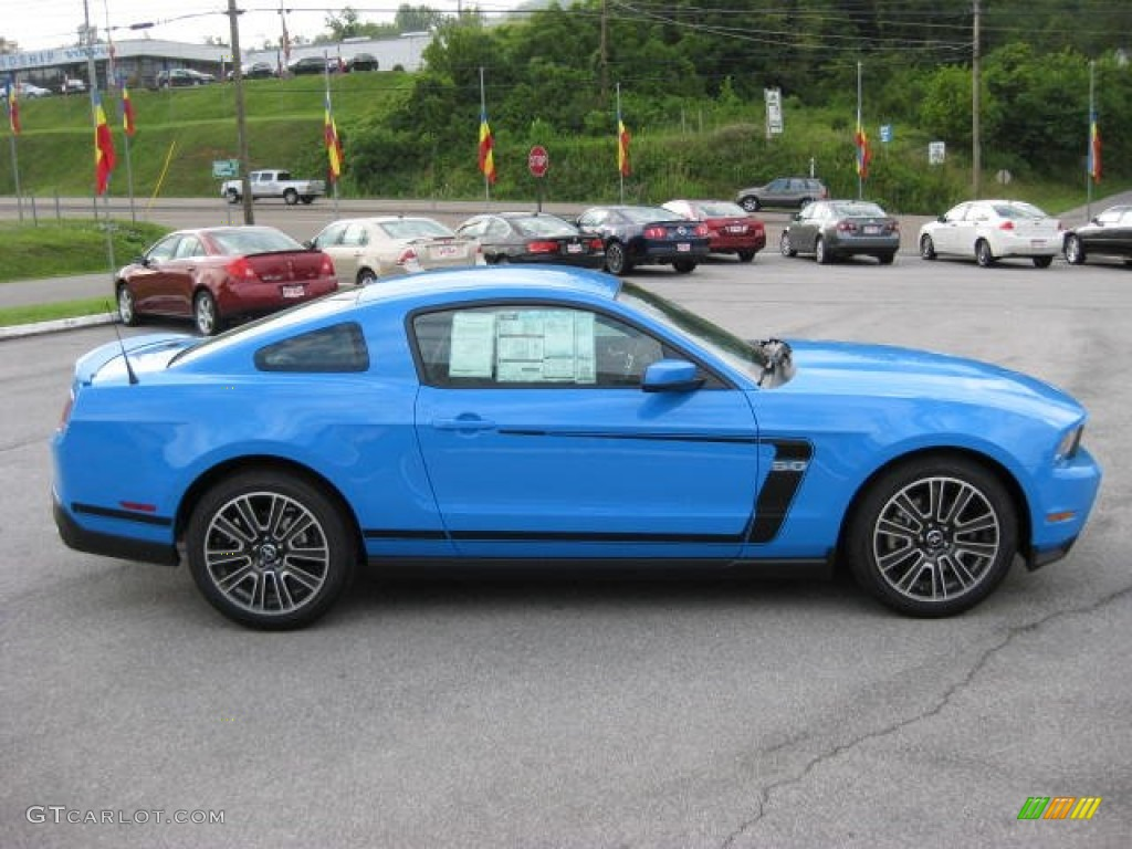 Grabber Blue 2012 Ford Mustang Gt Premium Coupe Exterior
