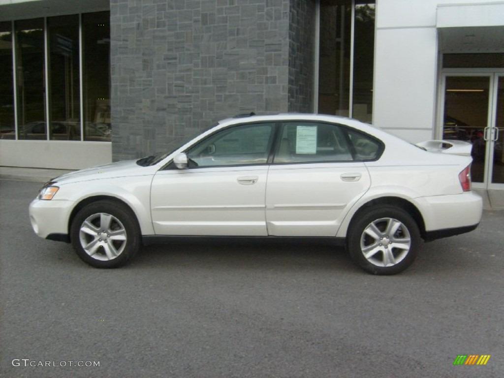 2001 Subaru Outback 3.0 >> Satin White Pearl 2005 Subaru Outback 3.0 R Sedan Exterior ...