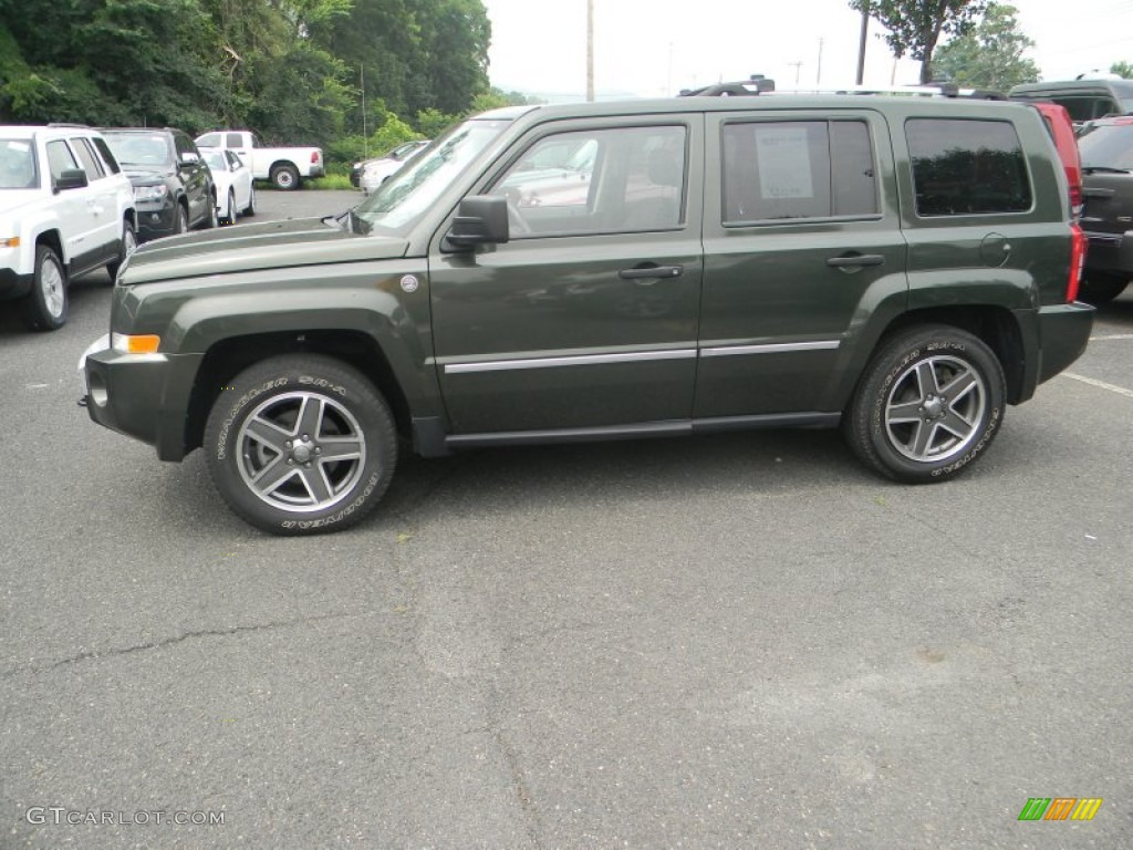 jeep green metallic 2008 jeep patriot limited 4x4 exterior. Black Bedroom Furniture Sets. Home Design Ideas