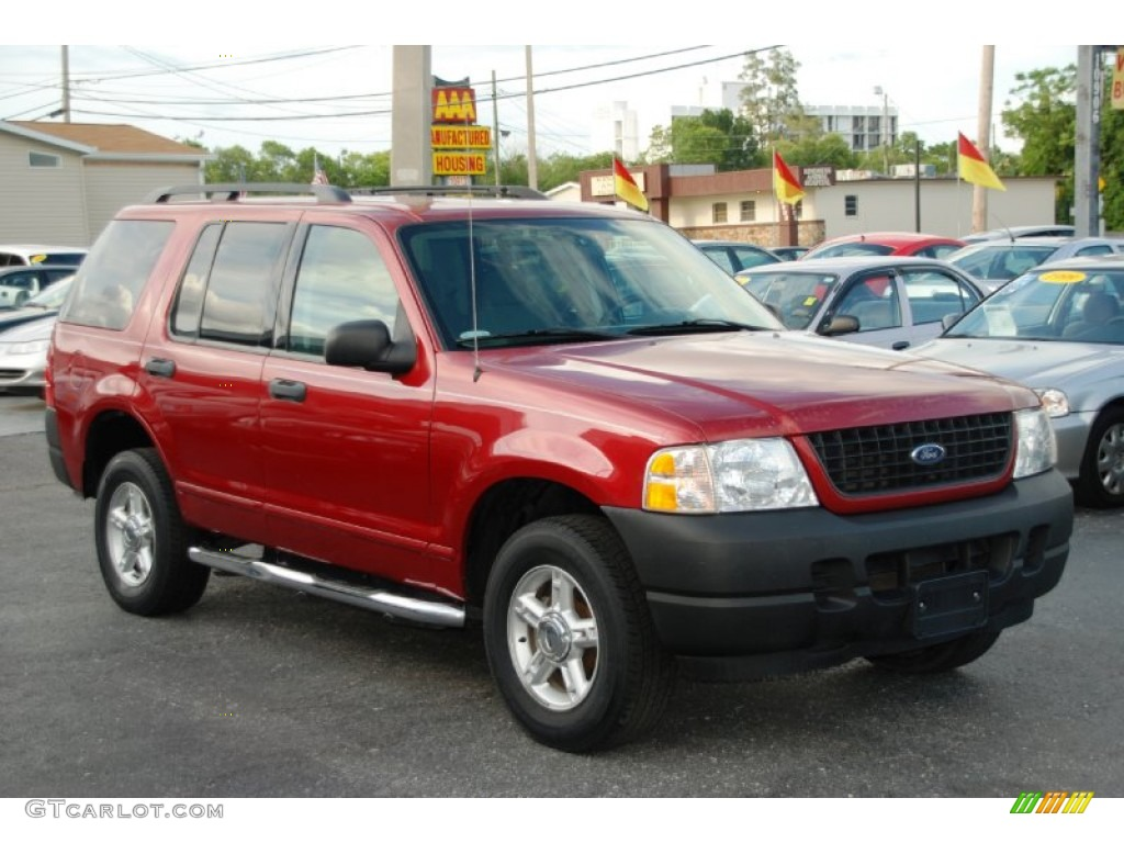 2003 Explorer XLS - Redfire Metallic / Graphite Grey photo #1