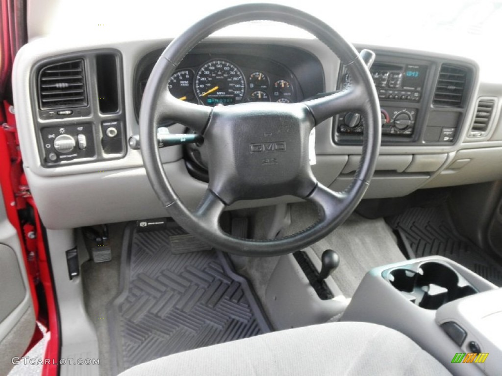 2000 GMC Sierra 1500 SLE Extended Cab 4x4 Pewter Dashboard