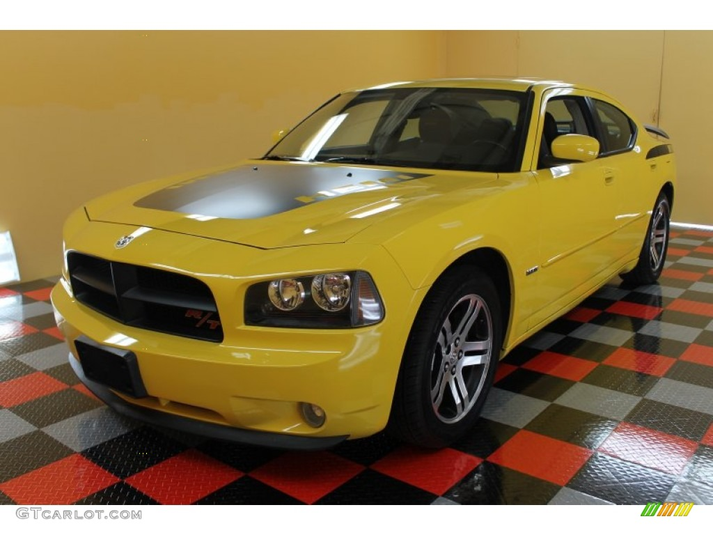 Top Banana Yellow 2006 Dodge Charger R T Daytona Exterior