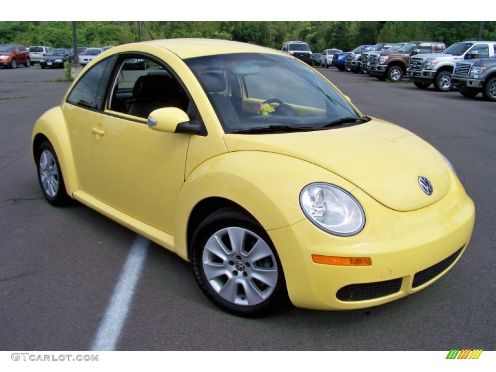 sunflower yellow 2009 volkswagen new beetle 2 5 coupe exterior photo 51615814. Black Bedroom Furniture Sets. Home Design Ideas