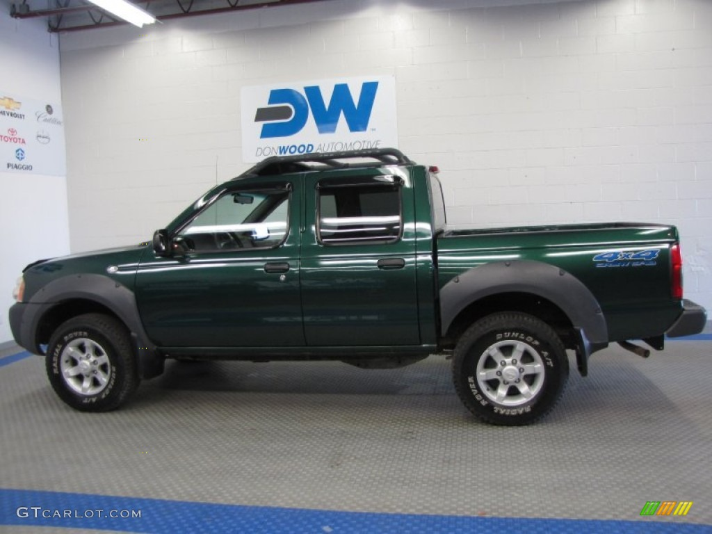 2001 frontier xe v6 crew cab 4x4 alpine green metallic gray photo 6