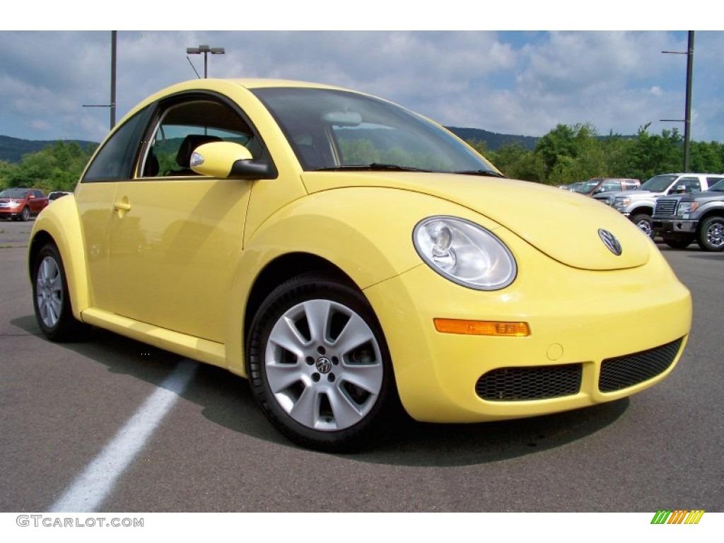 2009 New Beetle 2 5 Coupe Sunflower Yellow Black Photo 23