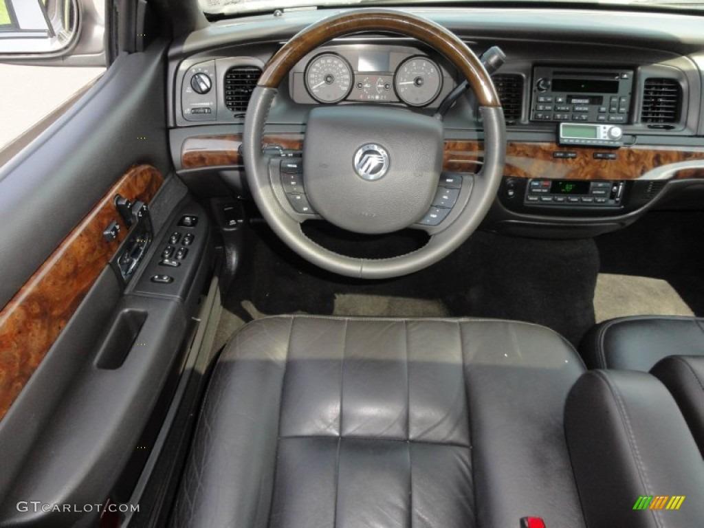 2008 Mercury Grand Marquis Ls Charcoal Black Dashboard