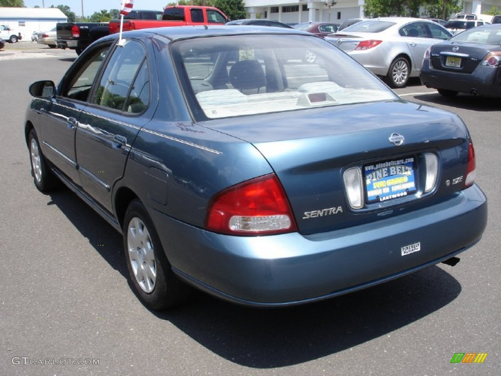 2001 Sentra GXE   Out Of The Blue / Stone Photo #6
