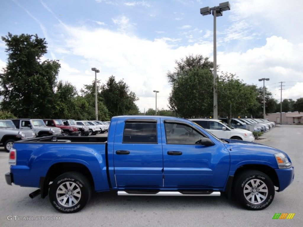 Electric Blue 2007 Mitsubishi Raider Ls Double Cab