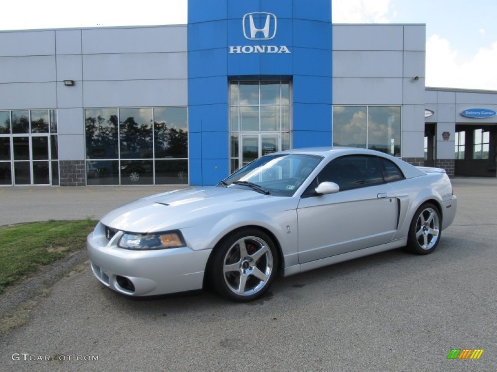 Silver metallic ford mustang ford mustang cobra coupe