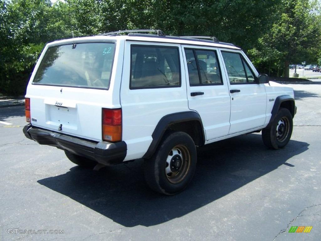 1995 Cherokee Sport   Stone White / Grey Photo #6