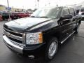 2011 Black Chevrolet Silverado 1500 LT Crew Cab 4x4  photo #3