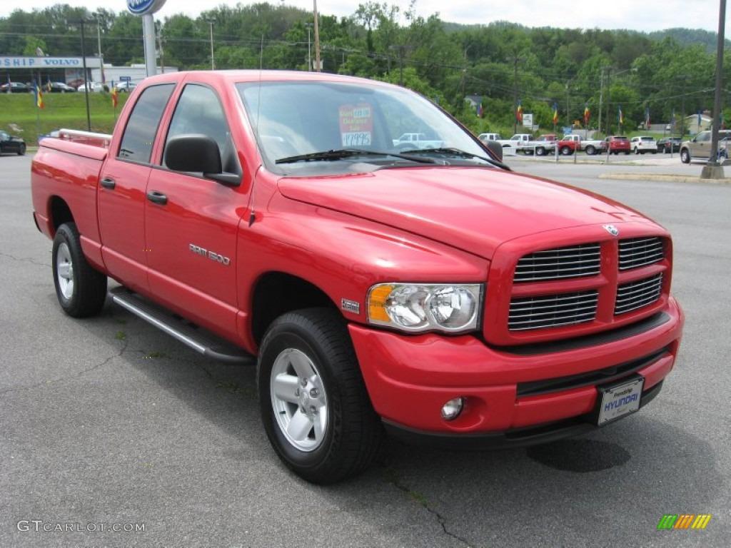 2003 flame red dodge ram 1500 slt quad cab 4x4 51669580 photo 4 car color. Black Bedroom Furniture Sets. Home Design Ideas