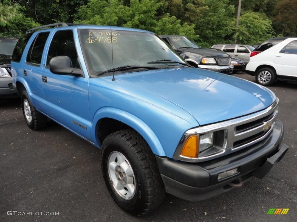 1996 Light Stellar Blue Metallic Chevrolet Blazer Ls 4x4 51669764 Gtcarlot Com Car Color Galleries