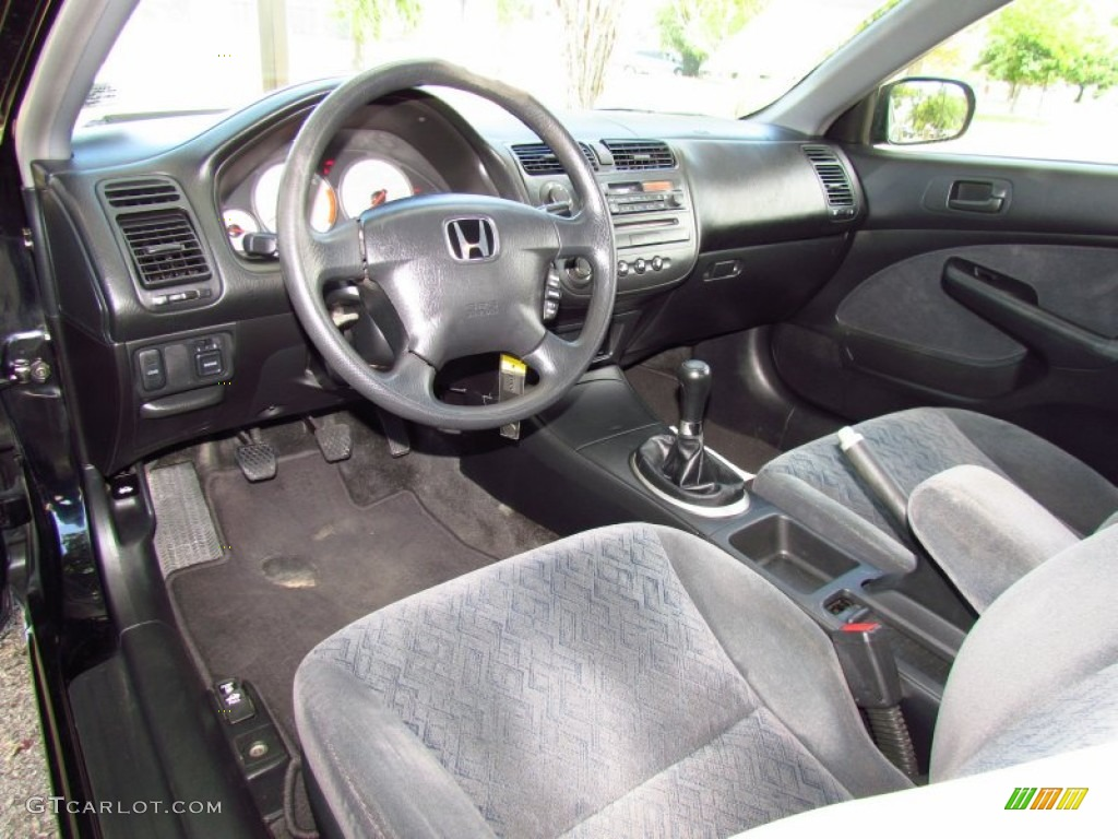 black interior 2002 honda civic lx coupe photo 51716389
