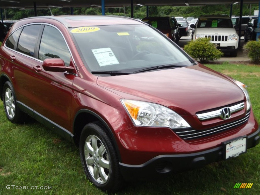 2009 CR-V EX-L 4WD - Tango Red Pearl / Gray photo #1