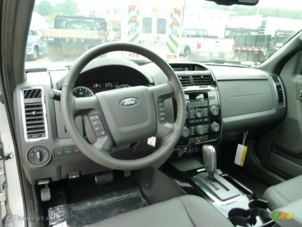 charcoal black interior 2012 ford escape limited v6 4wd. Black Bedroom Furniture Sets. Home Design Ideas