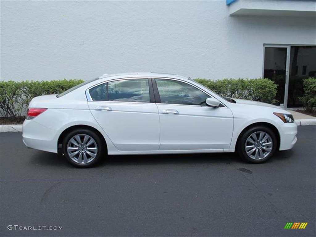 White Orchid Pearl 2011 Honda Accord Ex L V6 Sedan