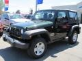 2011 Natural Green Pearl Jeep Wrangler Sport 4x4  photo #1