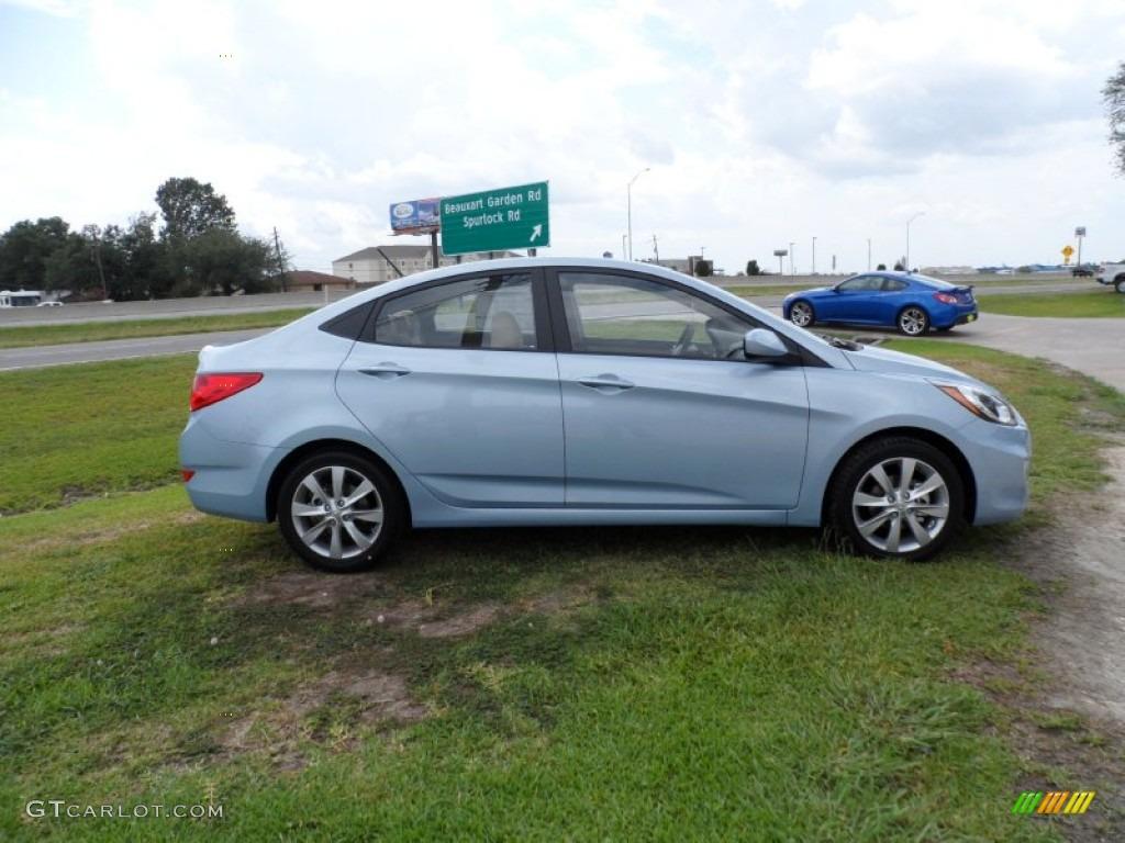 Clearwater Blue 2012 Hyundai Accent Gls 4 Door Exterior