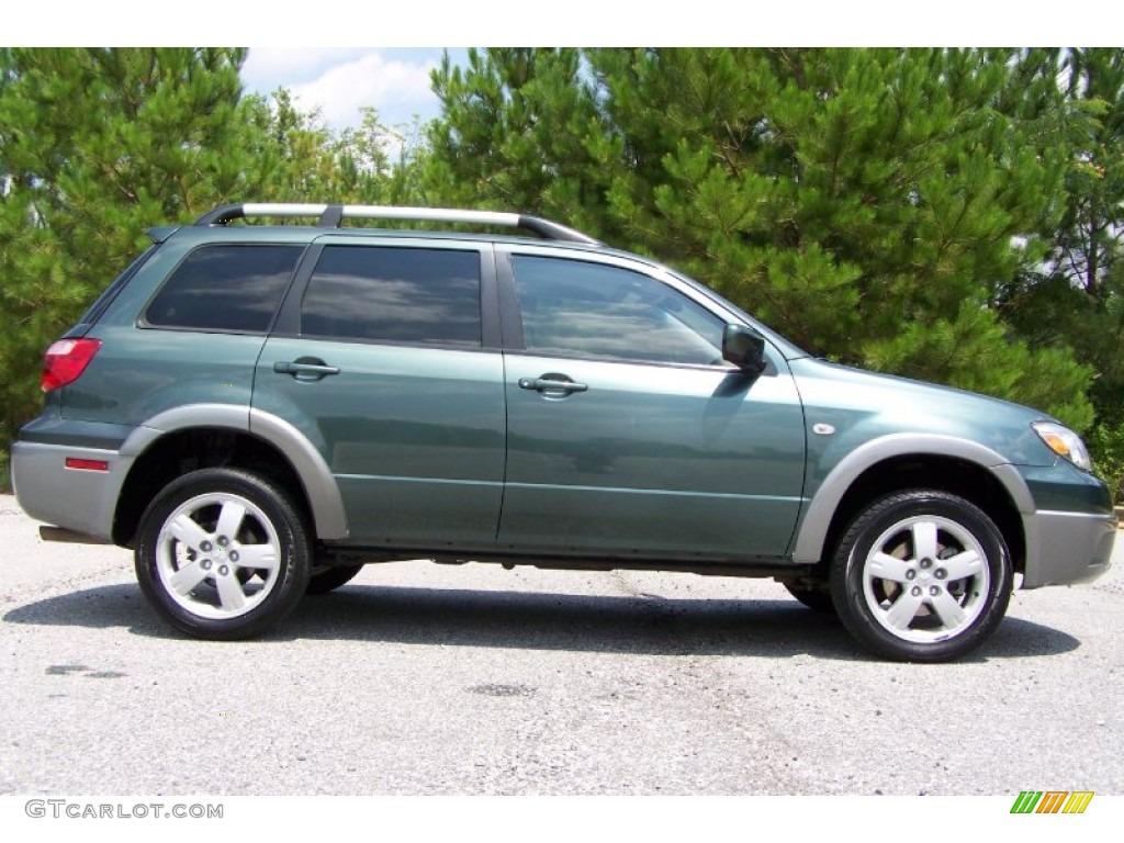 Lofty Green Pearl 2005 Mitsubishi Outlander Xls Exterior Photo 51768177 Gtcarlot Com