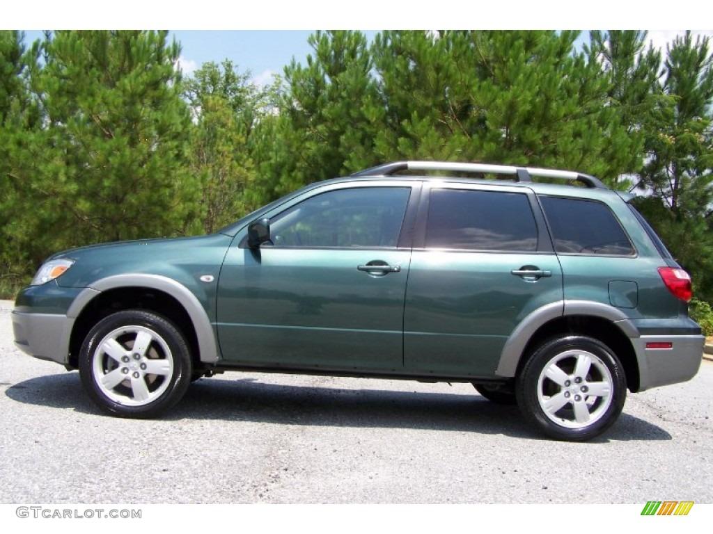 Lofty Green Pearl 2005 Mitsubishi Outlander XLS Exterior Photo #51768189 | GTCarLot.com