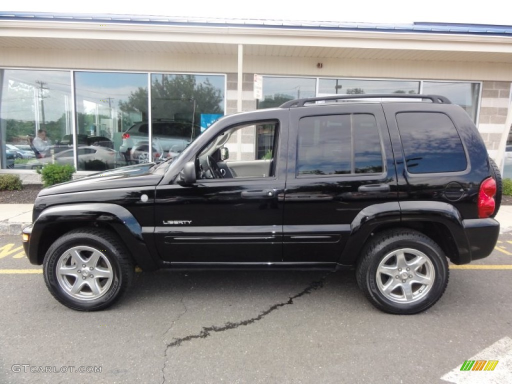 black clearcoat 2004 jeep liberty limited 4x4 exterior. Black Bedroom Furniture Sets. Home Design Ideas