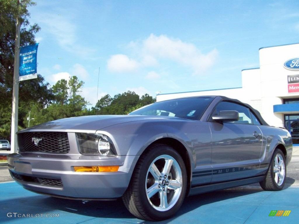 2007 Mustang V6 Premium Convertible - Tungsten Grey Metallic / Light Graphite photo #1