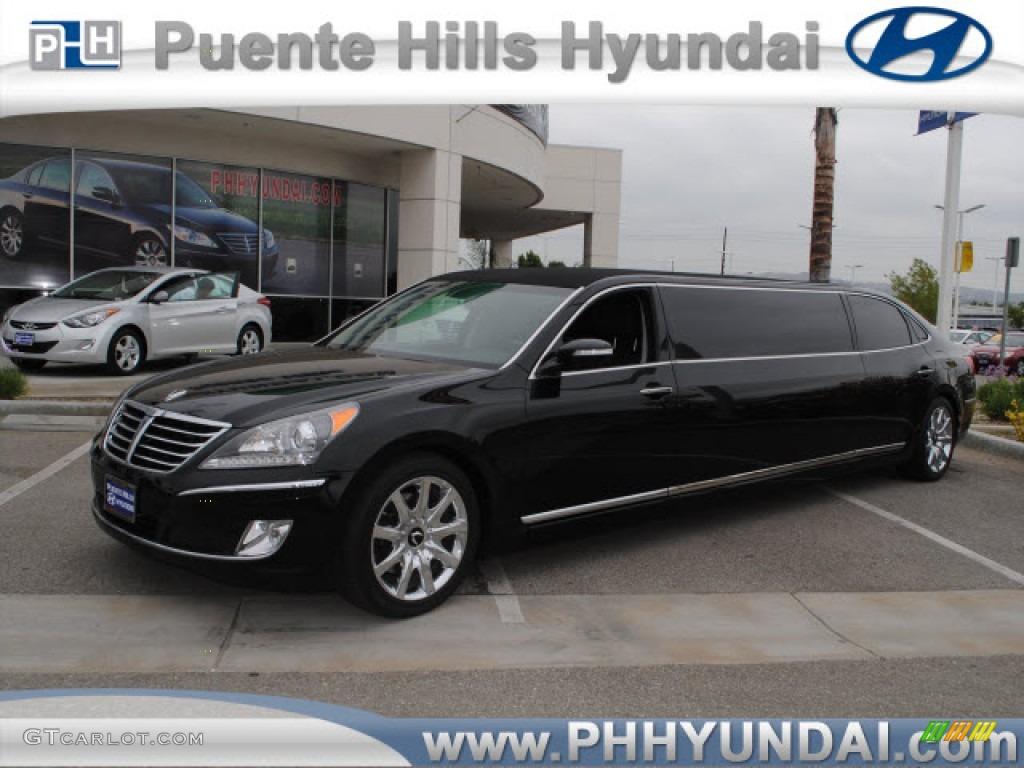 2011 Black Noir Pearl Hyundai Equus Signature Limousine
