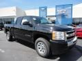 2011 Black Chevrolet Silverado 1500 LS Extended Cab 4x4  photo #1
