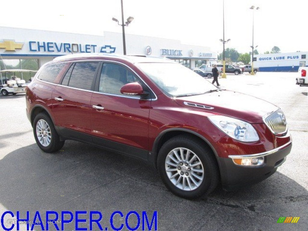 2010 Enclave CX AWD - Red Jewel Tintcoat / Cashmere/Cocoa photo #1